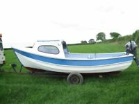 Boat 17FT GRP Pebble , Yamaha 15hp 4 Stroke , Trailer . PX PLUS CASH FOR BIGGER BOAT !!