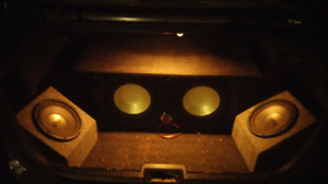 Two 10 inch infinity subs in box