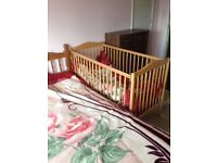 Cot, Wooden, Great Quality and Condition, with Mattress