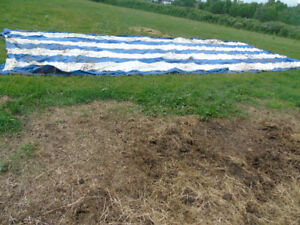 heavy duty tarps 40x20 foot with overlaps to join together