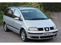*Bargain 7 Seater*2003 Seat Alhambra 1.9 TDi, 6 Speed, Met. Silver, MOT'd To April 2018