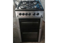 X162 stainless steel beko 50cm gas cooker comes with warranty can be delivered or collected