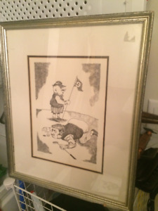 "Golf ""The Treager"" Art Framed 132/200 With Certificate"