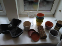 Pots, vase and plates