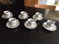 Expresso cups and saucers