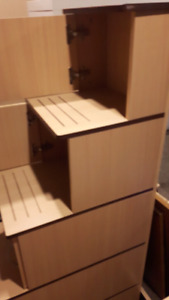 Set of stairs with storage