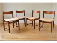 vintage dining chair chairs teak Remploy set of 4 danish design (table also available)