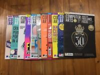 Collection of x11 computer arts magazines