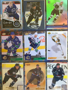 72 Different Vancouver Canucks Hockey Cards - $5