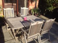 Solid wood patio dining set