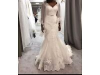 Beautiful wedding dress with underskirt
