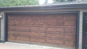 Solid Wooden Overhead Garage Door