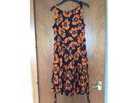 Lady V Orange Poppy Tea Dress