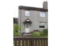 Three-bedroom semi-detached house Bo'ness unfurnished