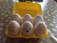 Tomy eggs (shape sorter)
