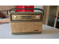 VINTAGE 1960S PHILIPS ALL TRANSISTOR BATTERY POWERED LW/MW PORTABLE RADIO RETRO DISPLAY DECOR GWO