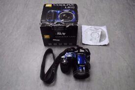 Nikon Coolpix L810 Blue Digital Camera Boxed £83