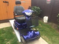 Heavy Duty Blue Mobility Scooter With All Lights & Horn Working - Needs Service & Batts-Cheap Price