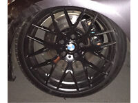 "4x DAMAGED BMW E92 Avant Garde M359 CSL style Staggered 19"" RIMS and tyres"