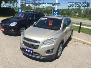 2014 Chevrolet Trax LTZ  - Certified - Bluetooth - $136.78 B/W