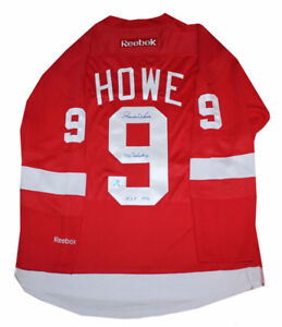 Gordie Howe signed autograph Detroit Red Wings reebok jersey
