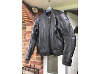 As New - Hein Gericke Womens Leather motorbike jacket (size 14)