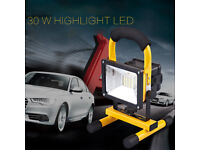 30W LED Floodlight IP65 Waterproof Outdoor Work Light Security Lamp Rechargeable Brand new in Box
