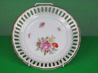 11 x Antique pierced porcelain cake plates