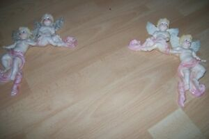 2 Victorian Angel corner  wall decor