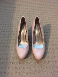 Light pink high heel shoes