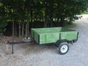 6 ft by 4 ft Trailer - Comes with a spare tire.