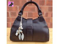 RADLEY 'Danby' Black Leather Grab Bag *New with Tags*