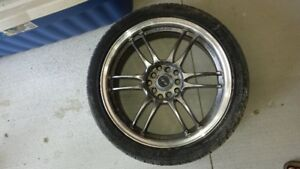 Set of rims with summer tires set of rims with winter tires