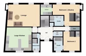 8 bedroom flat to rent. Ideal for contractors/corporate lets. Long or short term leases available