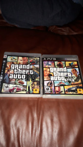 Grand theft Auto 4 and 5 PS3