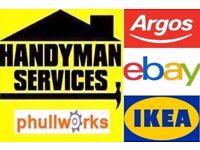 HANDYMAN SERVICES - TV BRACKET - CARPENTER /FLAT PACK ASSEMBLY /SLIDING DOORS IKEA FLATPACK KITCHEN