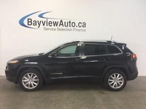 2016 Jeep CHEROKEE LTD- 4x4! PANOROOF! LEATHER! NAV! REM START!