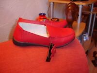 Red Leather Shoes size 7--Brand New with Tags!