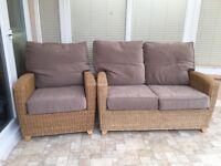 Wicker sofa & chair