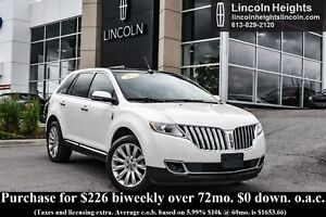 2014 Lincoln MKX AWD - BLUETOOTH - LEATHER - NAV - PANORAMIC ROO