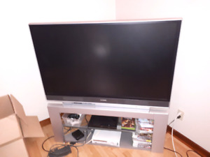 50 inch rear projection LCD with matching stand