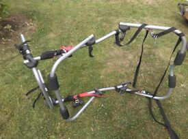 Bike car rack rear mounting brand halfords takes bicycles in high mounting position