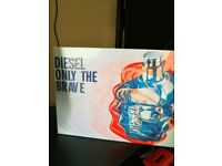 Diesel Only The Brave Gift Set (Brand New in Box) 50ml after shave + 100ml shower gel
