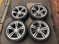 Bmw M5 F10 Genuine wheels with Pirelli P-Zero tyres