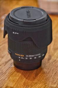 Sigma dc 18-200mm 3.5-6.3 pour nikon
