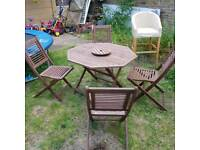 Garfen chairs and table set