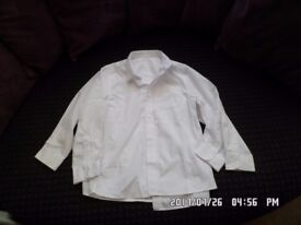 2 x nearly new boys school shirts size 8-9 yrs