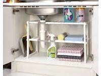 Under Sink Storage Adjustable Shelf (H39 x W38 x D26cm) (NEW)