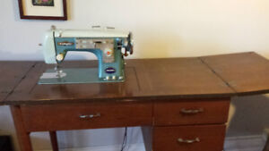 Domestic sewing machine with stand