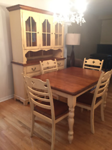MOVING SALE - Solid Maple Dinning Set by Bermex